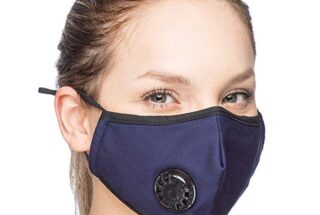 Navy Blue Soft Cotton Reusable Mask with Filters